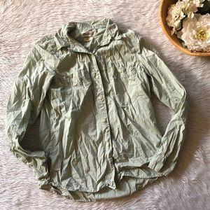 Madewell Mint Button Down Shirt